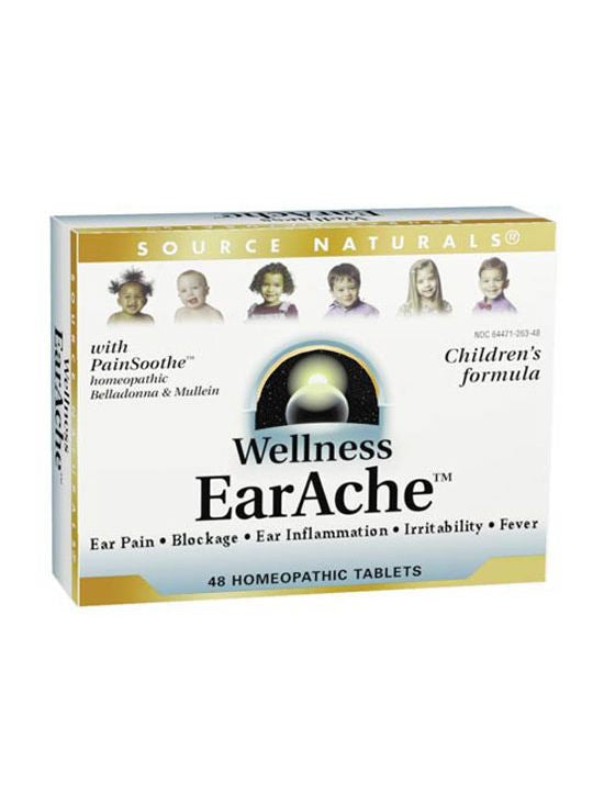 Source Naturals, Wellness Earache Homeopathic Bio-Aligned, 48 ct