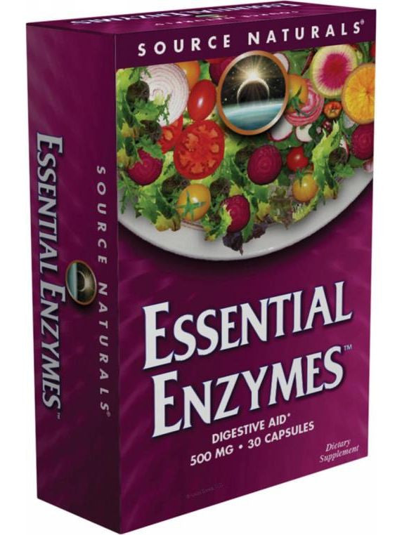 Source Naturals, Essential Enzymes, 500mg Vegetarian Bio-Aligned, 60 ct