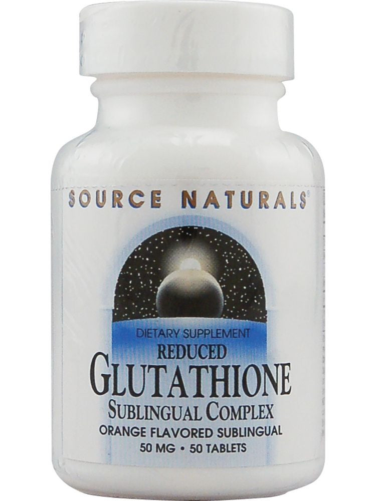 Source Naturals, Glutathione Reduced Complex Sublingual, 50mg, 50 Sublingual