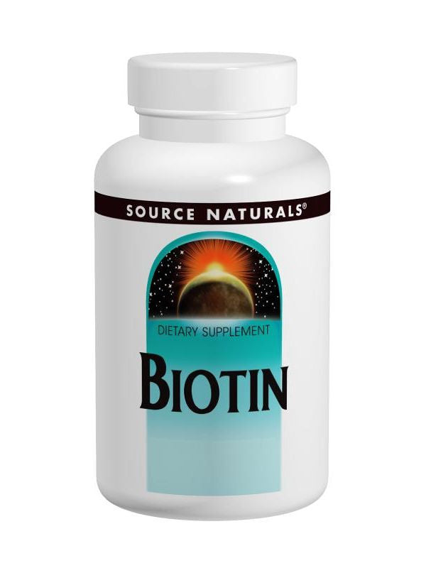 Source Naturals, Biotin, 5mg, 120 ct