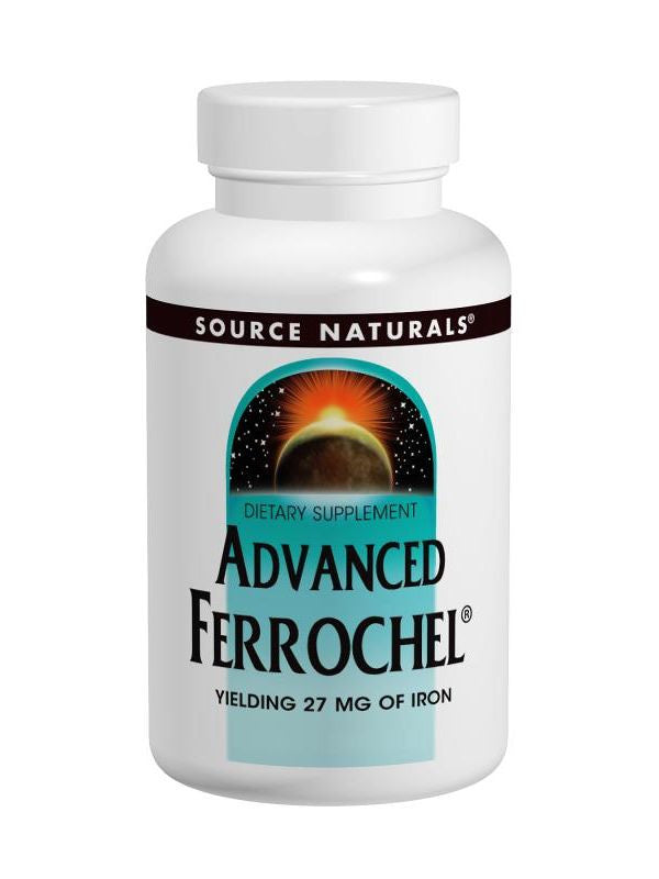 Source Naturals, Ferrochel Advanced, 27mg Iron, 90 ct