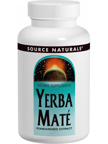Source Naturals, Yerba Mate Standardized Ext, 600mg, 90 ct
