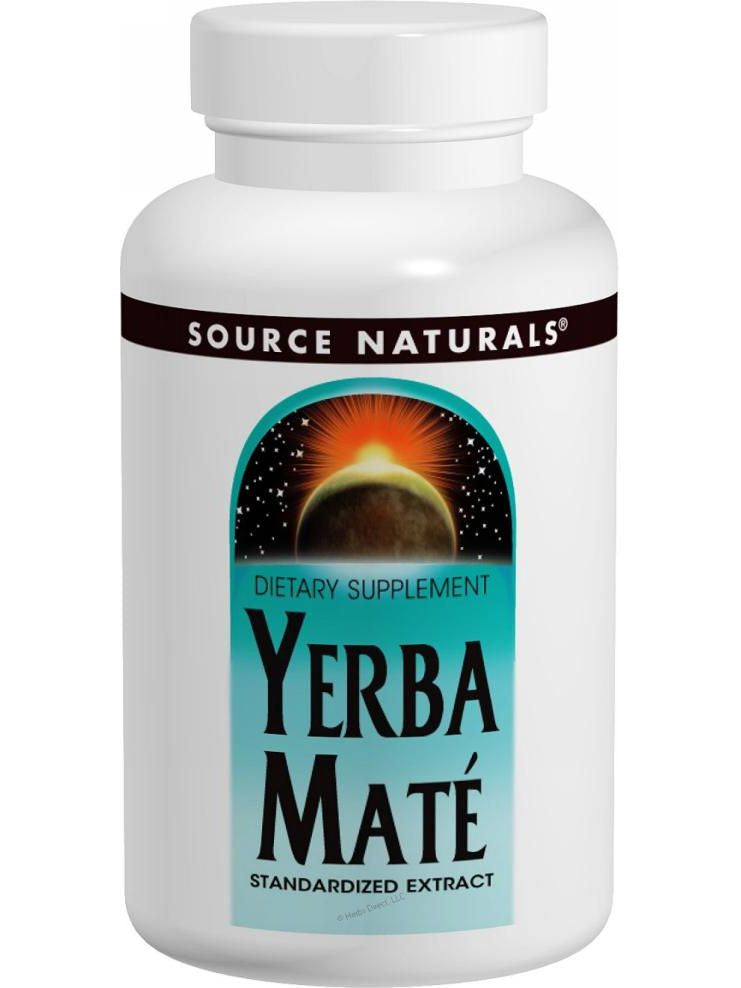 Source Naturals, Yerba Mate Standardized Ext, 600mg, 180 ct
