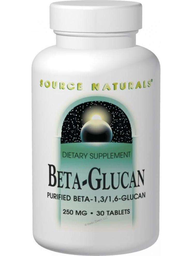 Source Naturals, Beta Glucan 1 3/1 6, 100mg, 30 ct