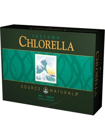 Source Naturals, Yaeyama Chlorella, 200mg Resealable Pouch/Box, 300 ct