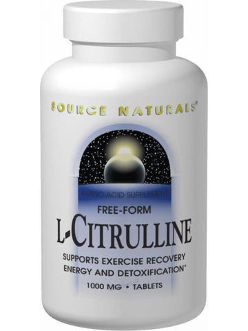 Source Naturals, L-Citrulline, 1000mg, 60 ct