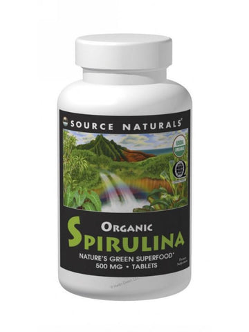 Source Naturals, Spirulina Organic, 500mg, 200 ct