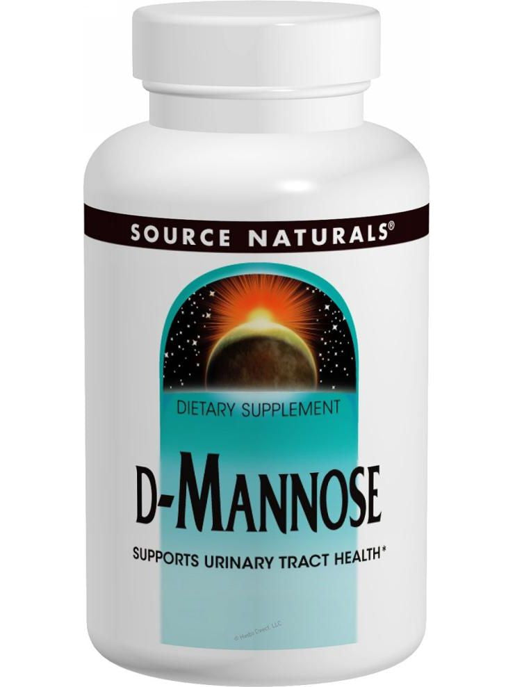 Source Naturals, D-Mannose, 500mg, 120 ct
