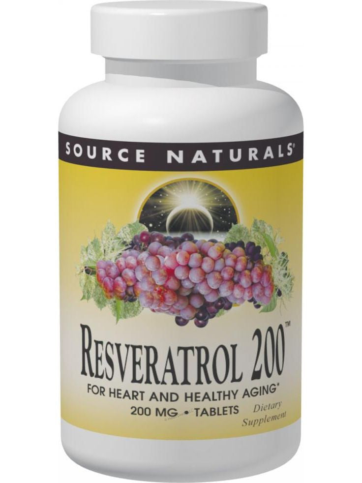 Source Naturals, Resveratrol 200 50% Standardized Extract, 60 ct