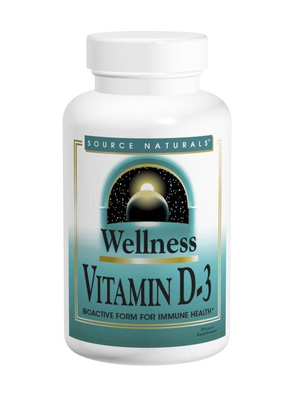 Source Naturals, Wellness Vitamin D-3 2000 IU, 100 softgels