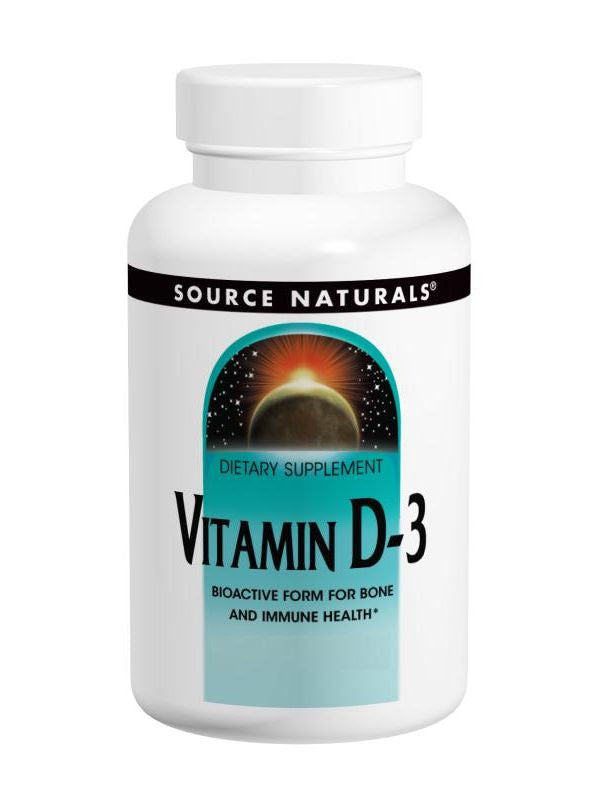 Source Naturals, Vitamin D-3 5000 IU, 100 softgels