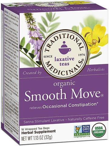 Traditional Medicinals, Smooth Move Tea, 16 bags