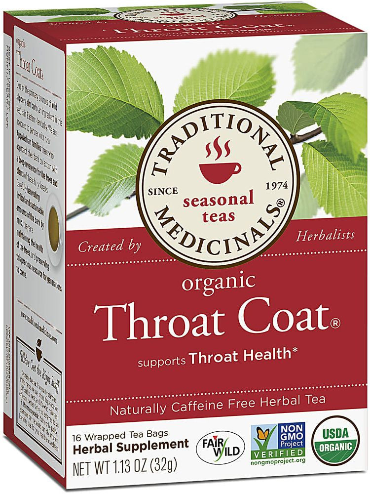 Traditional Medicinals, Throat Coat Tea, 16 bags