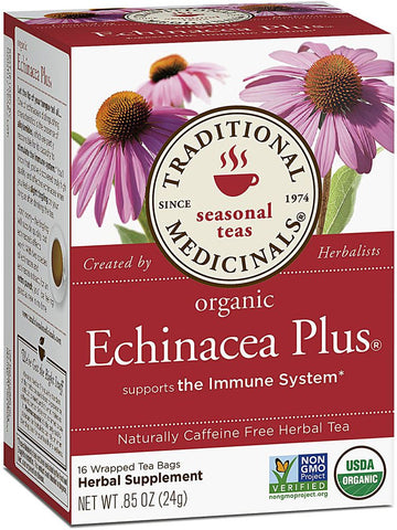 Traditional Medicinals, Organic Echinacea Plus Tea, 16 bags