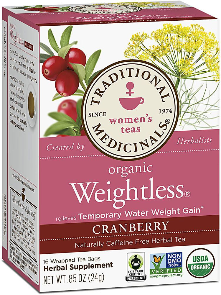 Traditional Medicinals, Weightless Tea Cranberry, 16 bags