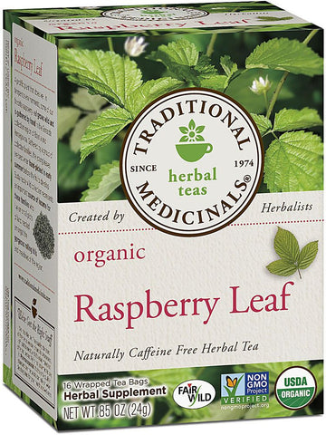 Traditional Medicinals, Organic Raspberry Leaf Tea, 16 bags