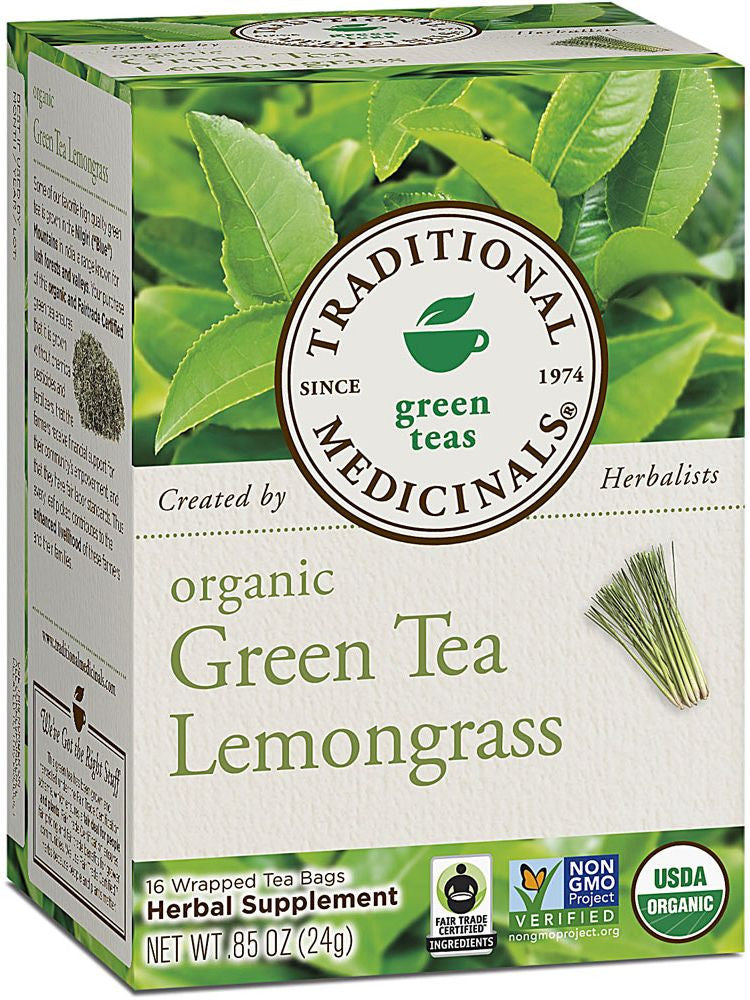 Traditional Medicinals, Golden Green Tea, 16 bags