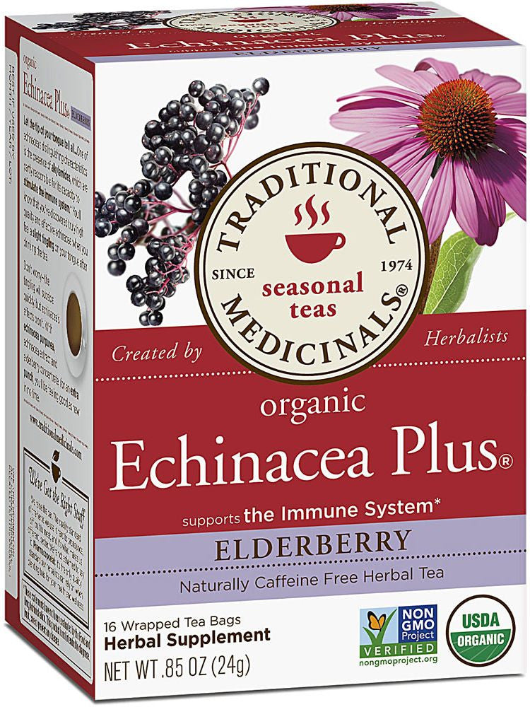 Traditional Medicinals, Echinacea Plus Eldeberryr Tea, 16 bags