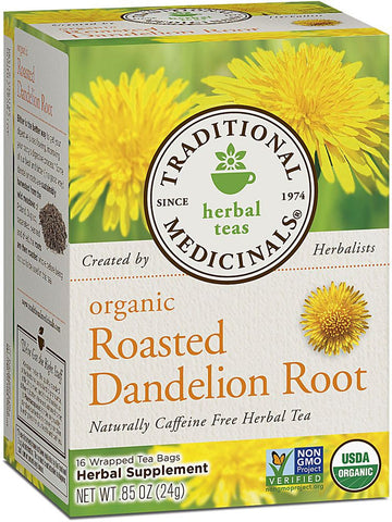 Traditional Medicinals, Organic Roasted Dandelion Root, 16 bags