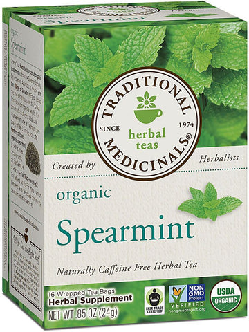 Traditional Medicinals, Organic Spearmint, 16 bags