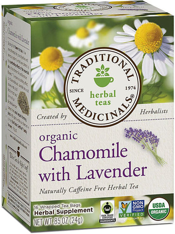 Traditional Medicinals, Organic Chamomile w/Lavender Tea, 16 bags
