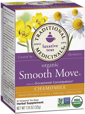 Traditional Medicinals, Smooth Move Chamomile Tea, 16 bags