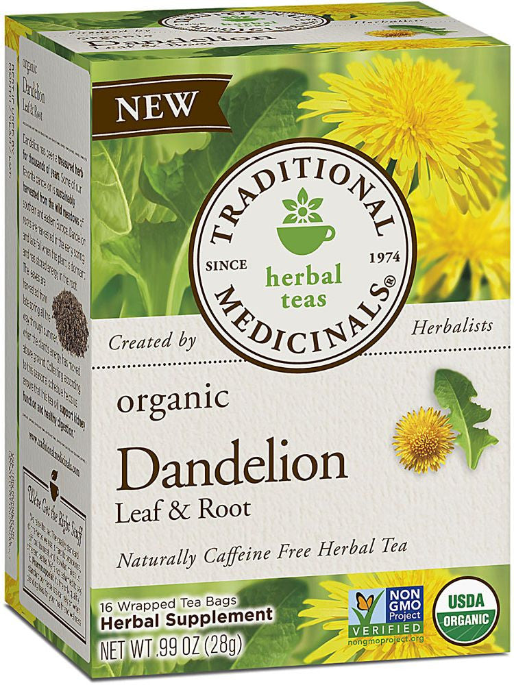 Traditional Medicinals, Dandelion Leaf & Root Tea, 16 bags