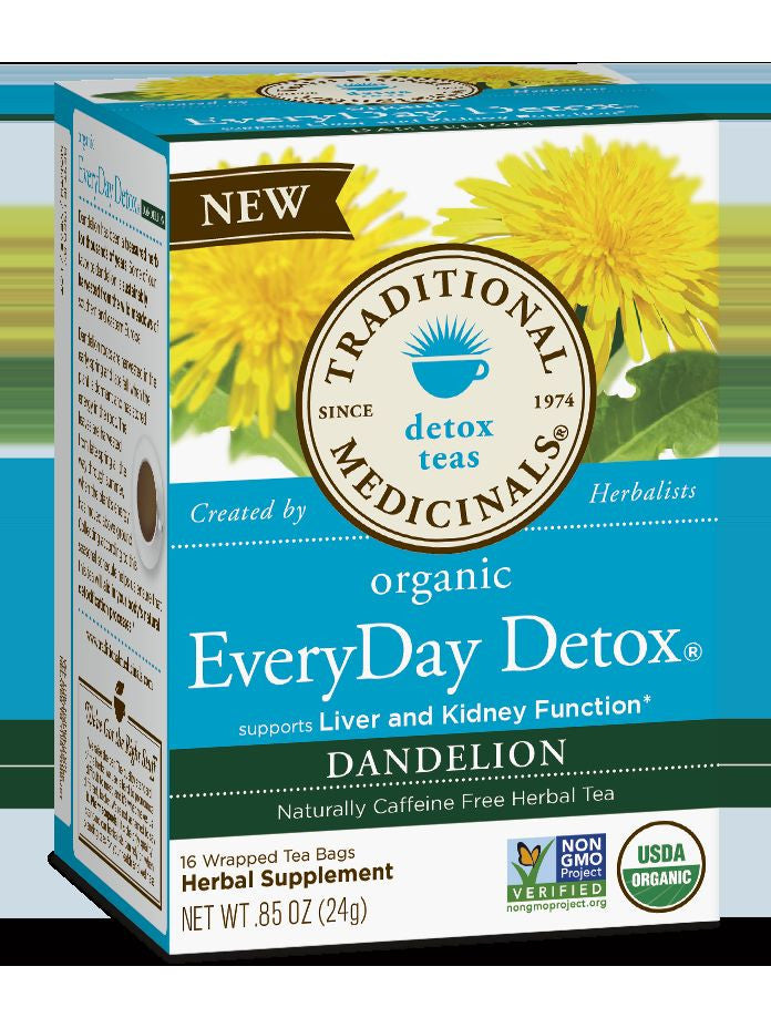 Traditional Medicinals, Everyday Detox Dandelion, 16 bags