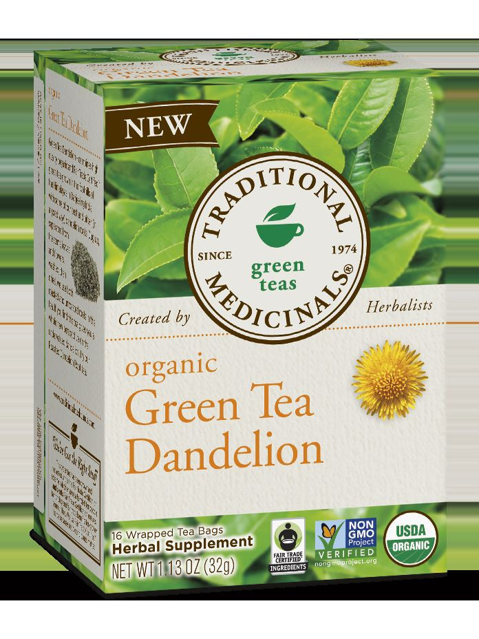 Traditional Medicinals, Organic Green Tea Dandelion, 16 bags