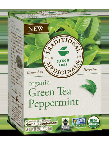 Traditional Medicinals, Organic Green Tea Peppermint, 16 bags