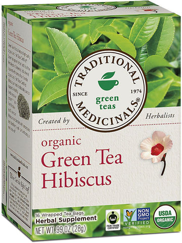 Traditional Medicinals, Organic Green Tea Hibiscus, 16 bags