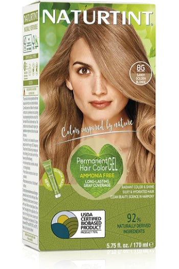 Naturtint Hair Color, Naturtint 8G, Sandy Golden Blonde