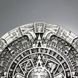 Fashion Antique Gold or Silver Aztec Mayan Detailed Calendar Belt Buckle