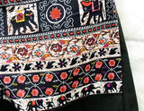 Hippie Hobo Sling Shoulder Bag  - Sling Handbag Handmade / Zip Plain Cotton / Gypsy Boho Messenger Bag