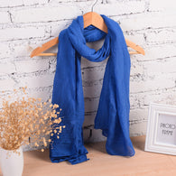 New Fashion Winter Pure Women Scarf  Long Cotton Candy Colors Shawl 18 Colors Warm Soft Women Muffler
