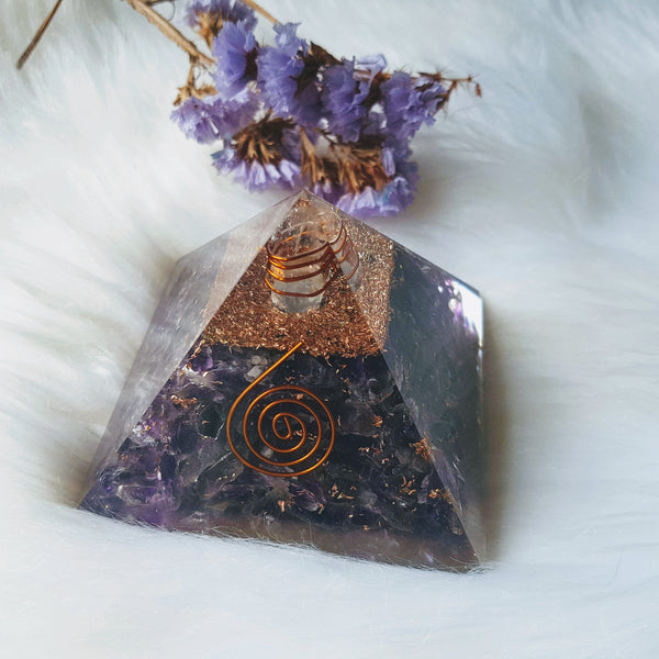 Amethyst Organite Pyramid - Willow Moon Shop