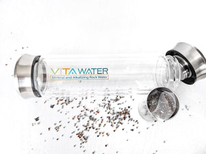 VitaWater Hot / Cold Borosilicate VITA-MINERAL GLASS INFUSER BOTTLE