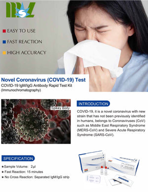 CoronaVirus Test Kit - Human 15 Minute Accurate, Affordable and Reliable Finger Prick Corona Virus COVID-19 Blood Test