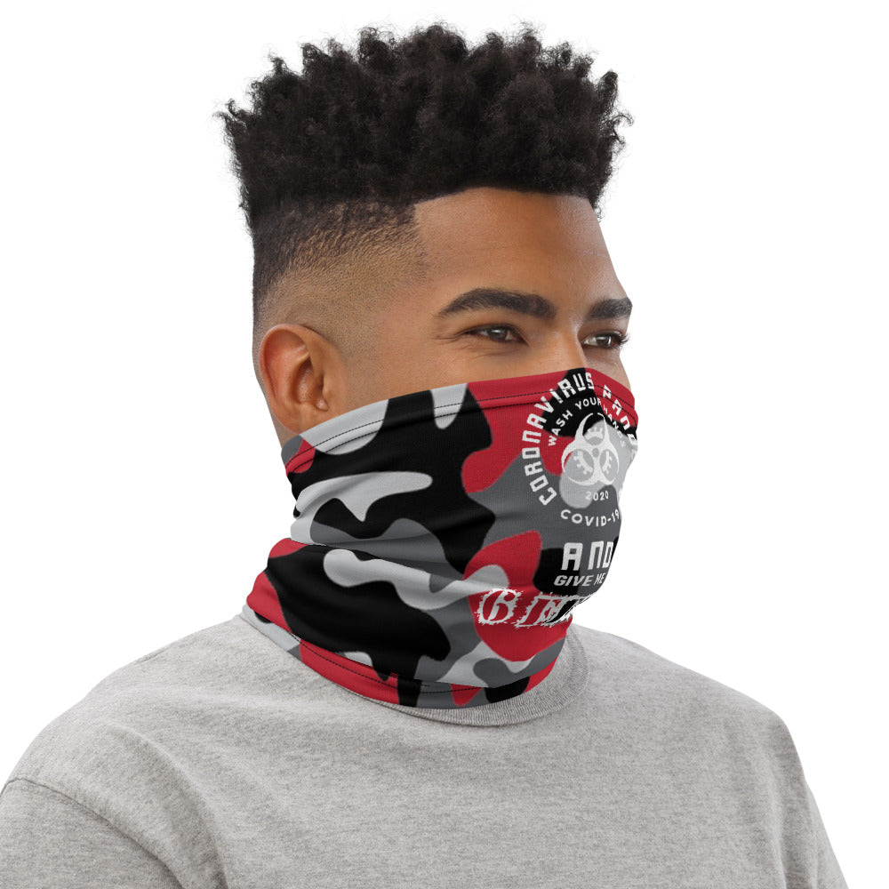 6 Feet Back Camo Red Neck Gaiter