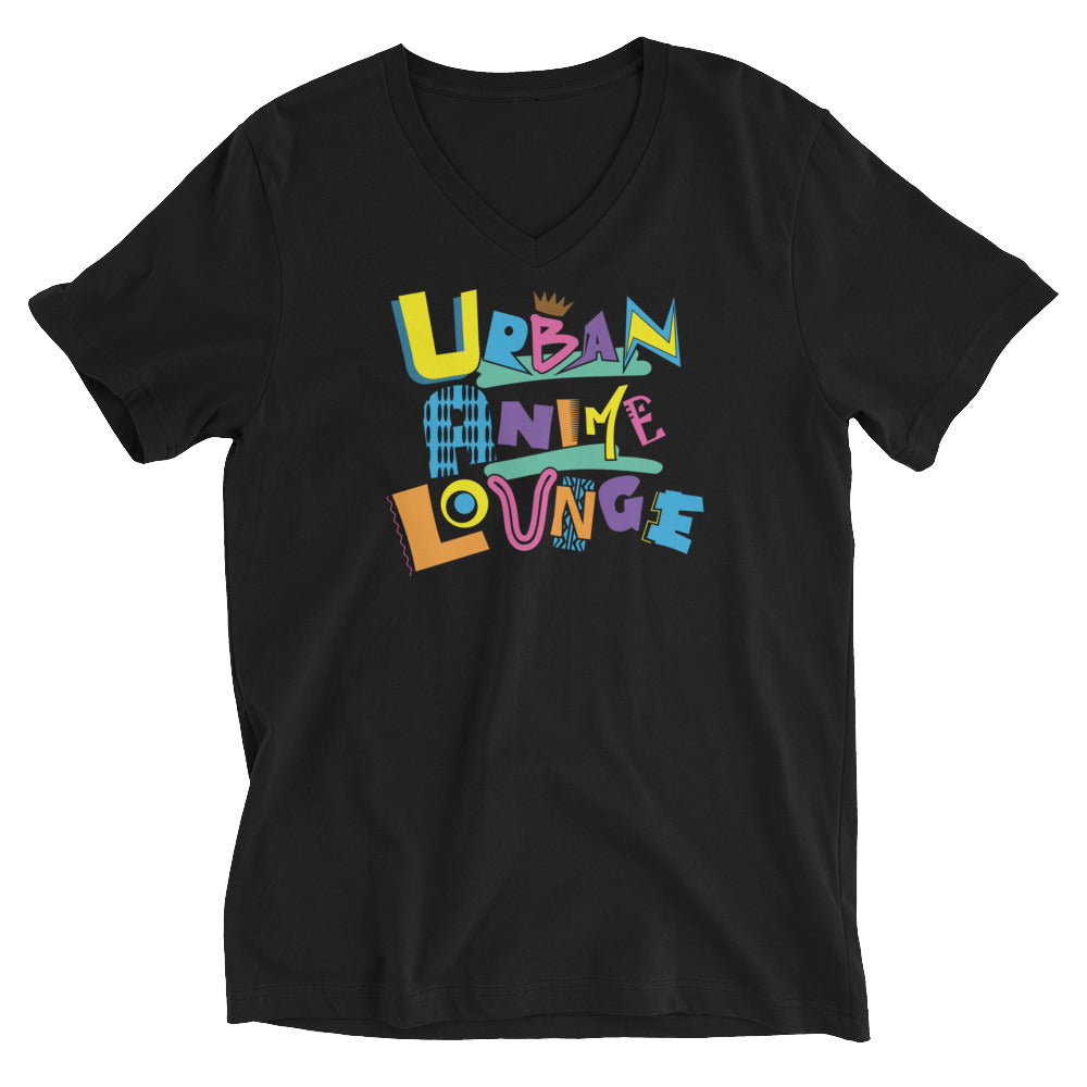 UAL in Color Short Sleeve V-Neck T-Shirt (Unisex)