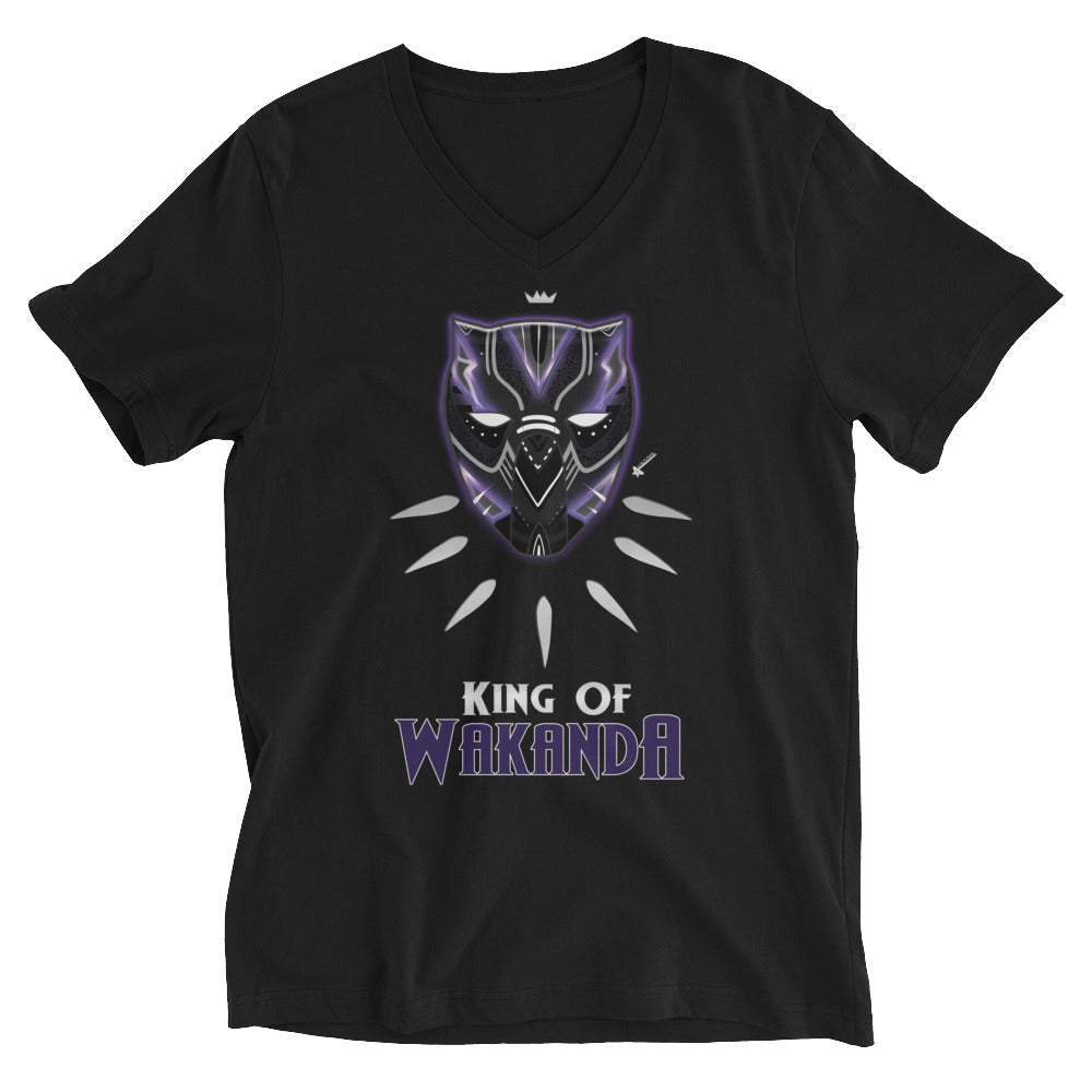King Short Sleeve V-Neck T-Shirt (Unisex)
