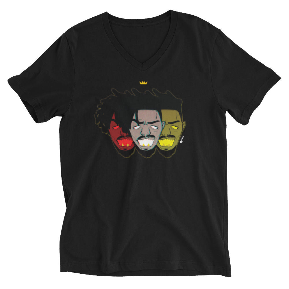 Wakanda KM Short Sleeve V-Neck T-Shirt (Unisex)