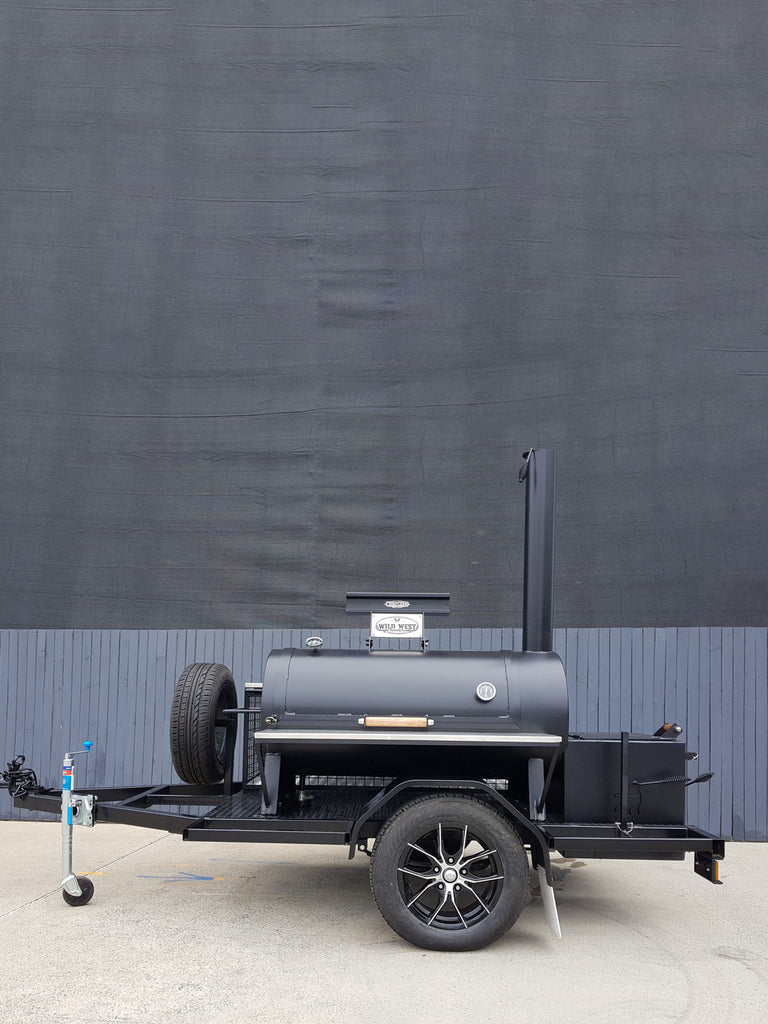 Wild West Offset Reverse Flow 24 Inch BBQ Smoker Trailer