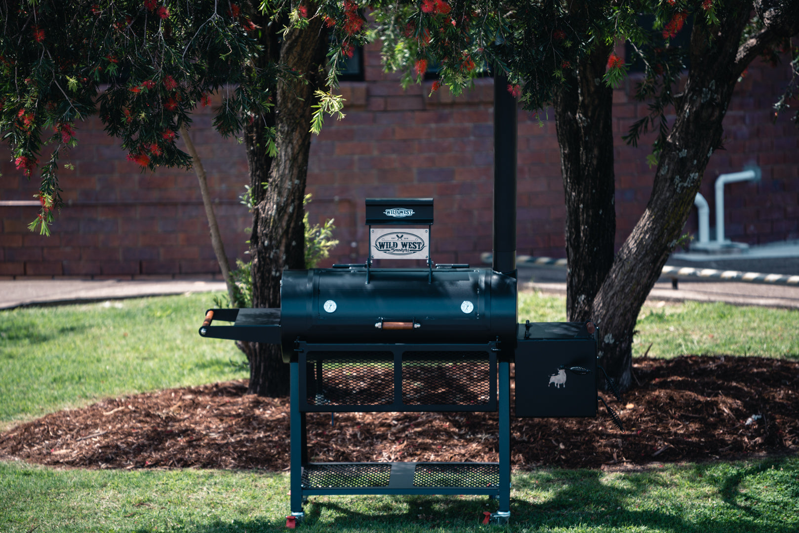Reverse Flow Offset Smokers 16 Inch - The Scout – Wild West