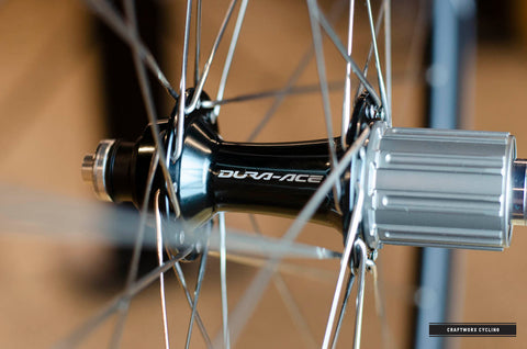 craftworx custom wheel build dura ace hub easton r90sl rims