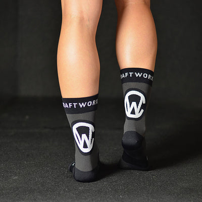 Craftworx Cycling Socks | Grey/Black/White | Single Pair