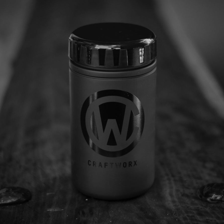 Craftworx Tool Can - Matt Black/Gloss Black Logo