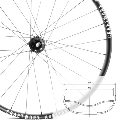 Monster HD | 27.5 plus | Mountain Bike Wheelset | 2040g | 18mm Deep | 49mm Wide