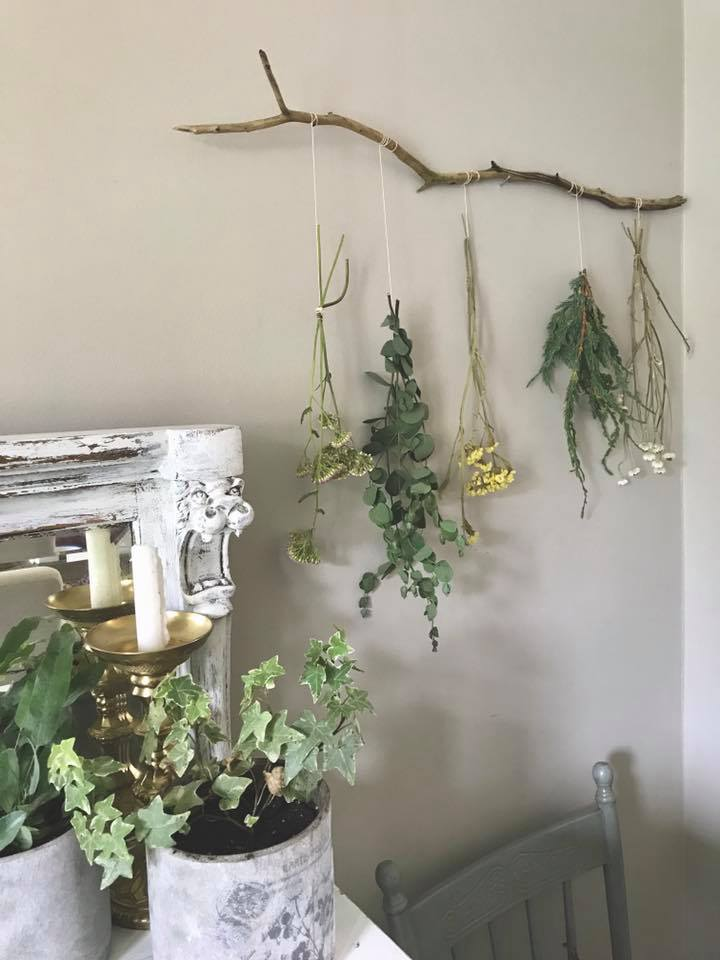 Hanging Branch Dried Flowers My Vintage Soul Cornwall