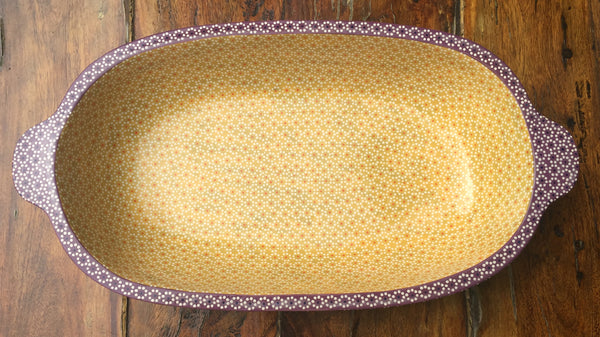 """Pavera"" serving dish / Lilac & Yellow"